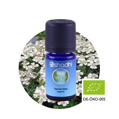 Cickafark (kék) bio (Archillea millefolium) , yarrow, illóolaj, Oshadhi aromaterápia