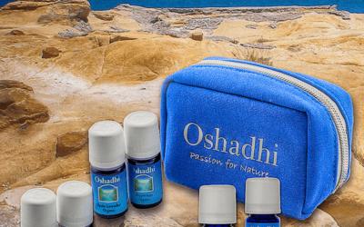 Oshadhi Aromaszett – Illóolaj tároló táska 6 db illóolajjal
