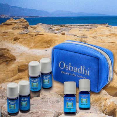 Oshadhi aromaszett, illóolaj tároló táska, útitáska